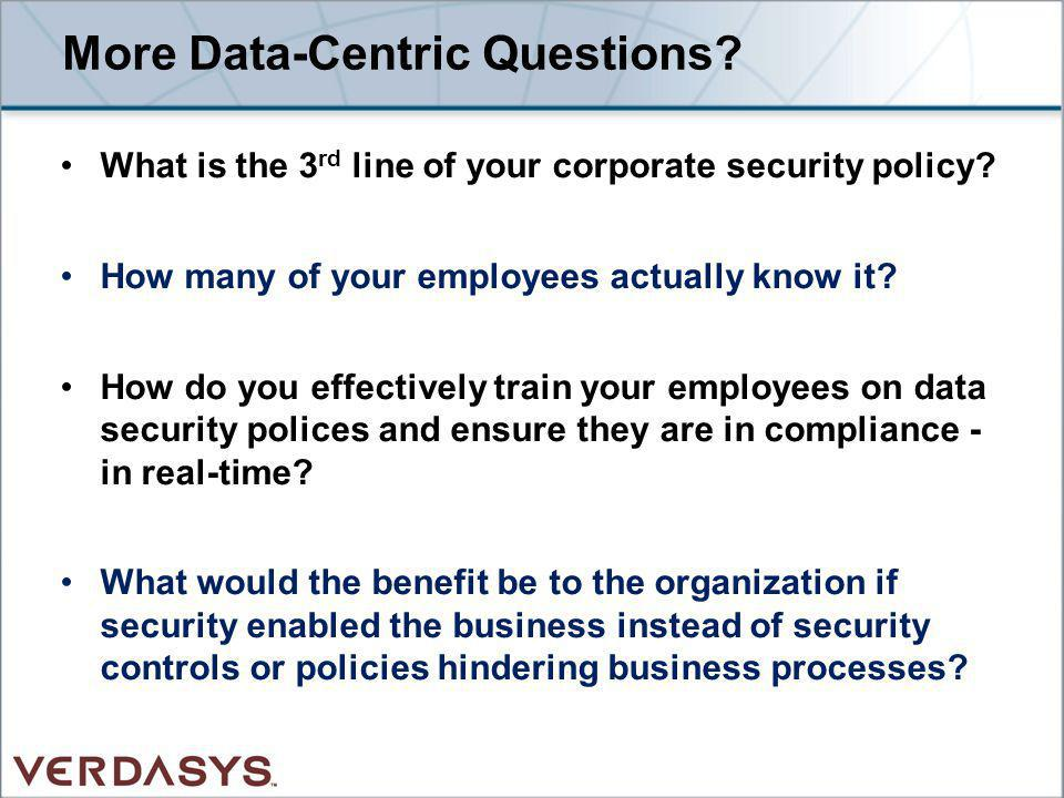 More Data-Centric Questions