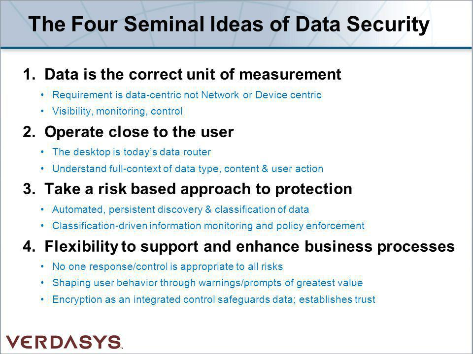 The Four Seminal Ideas of Data Security