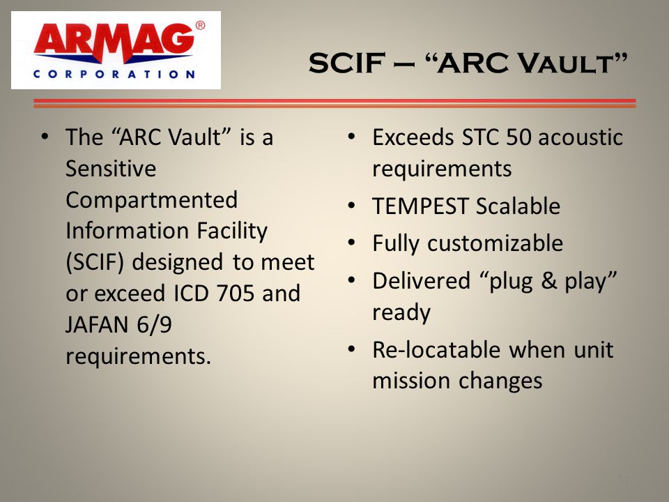 SCIF – ARC Vault