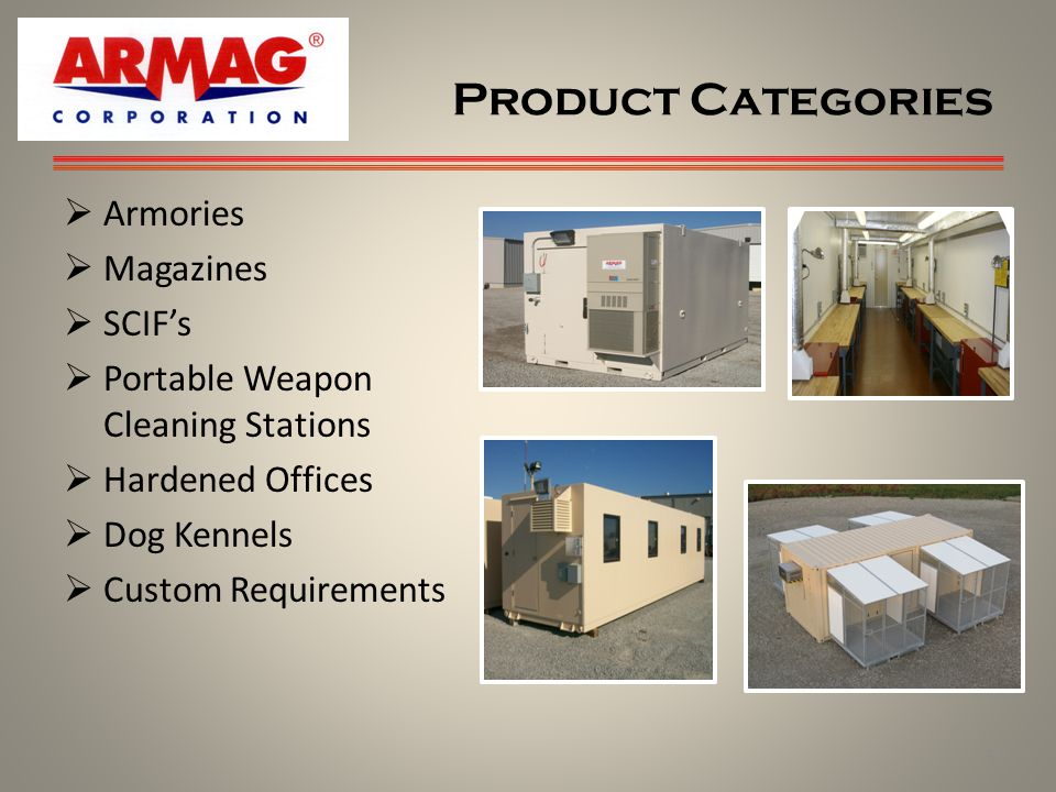 Product Categories Armories Magazines SCIF's