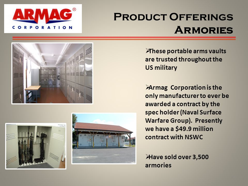 Product Offerings Armories