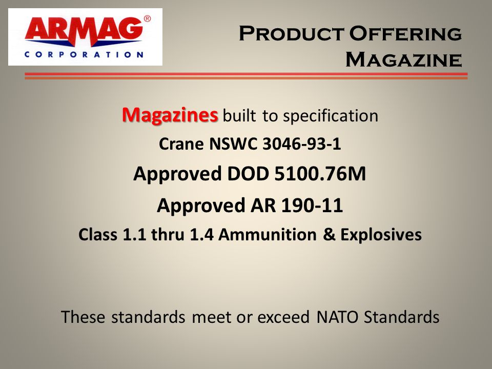 Product Offering Magazine