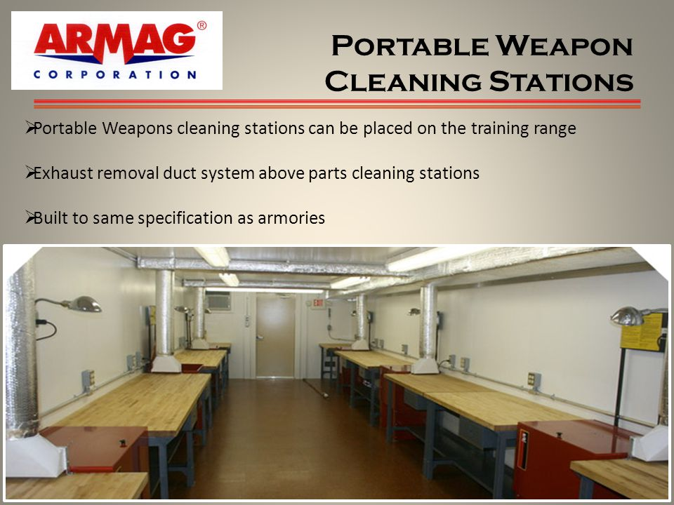 Portable Weapon Cleaning Stations