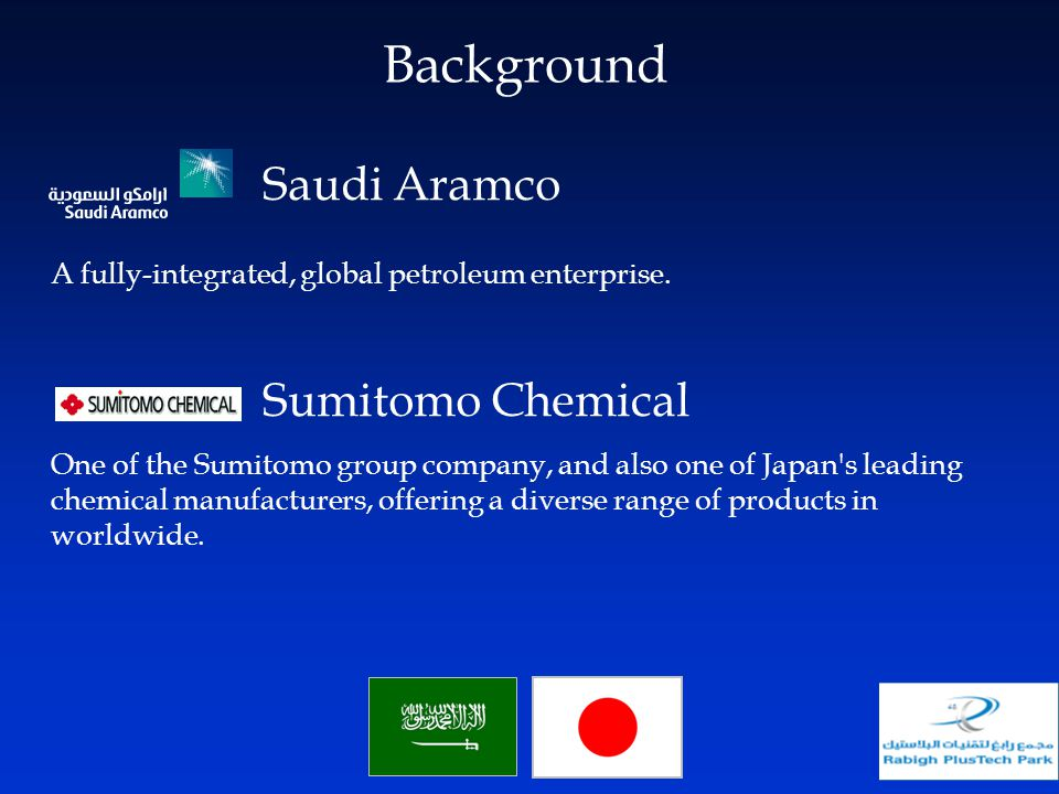 Background Saudi Aramco Sumitomo Chemical