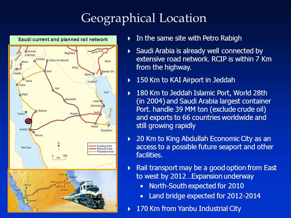 Saudi current and planned rail network