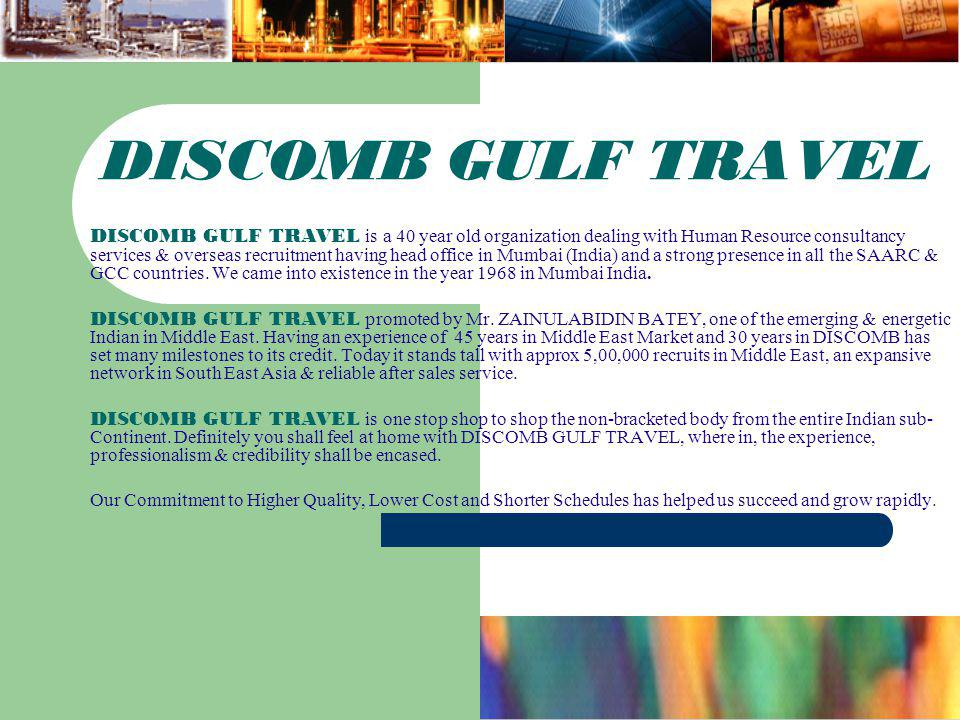 DISCOMB GULF TRAVEL
