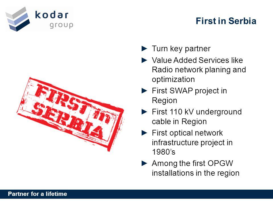 First in Serbia Turn key partner