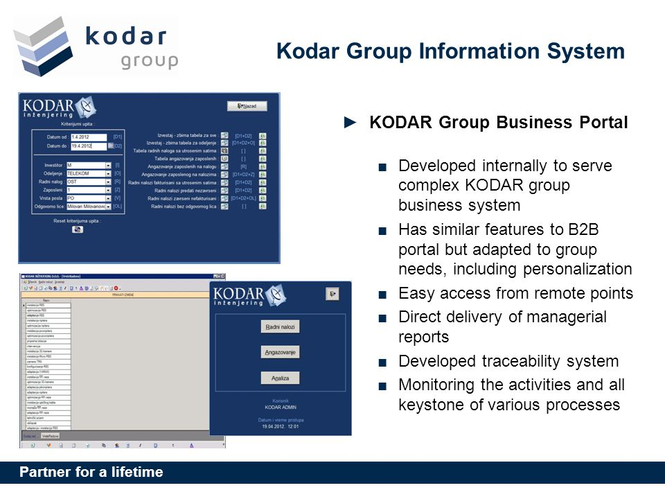 Kodar Group Information System