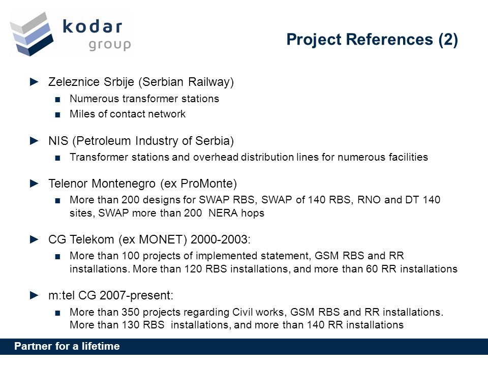 Project References (2) Zeleznice Srbije (Serbian Railway)