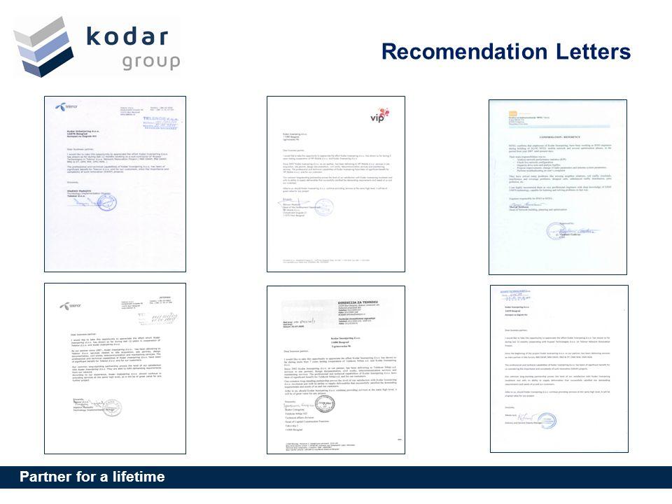 Recomendation Letters