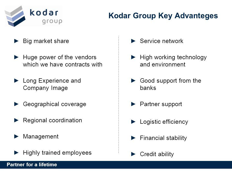 Kodar Group Key Advanteges