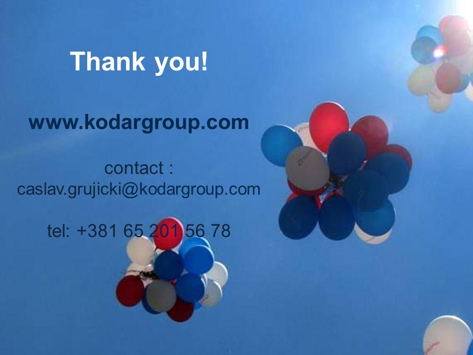 www.kodargroup.com contact : caslav.grujicki@kodargroup.com