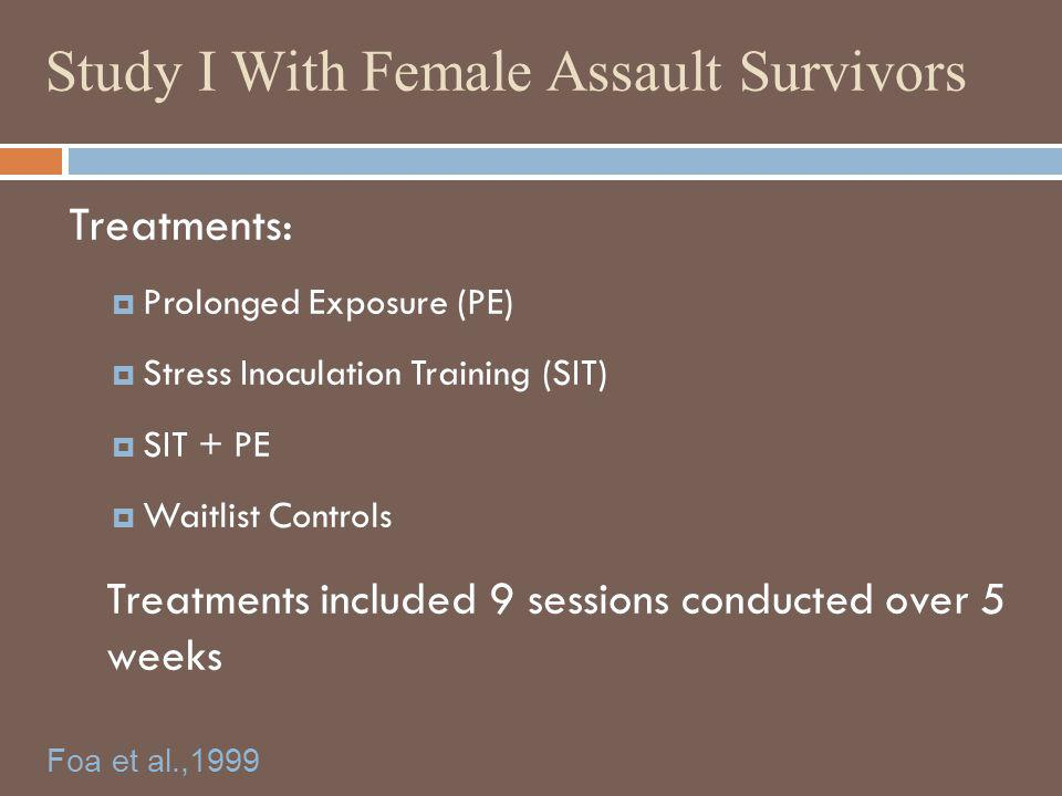 Study I With Female Assault Survivors