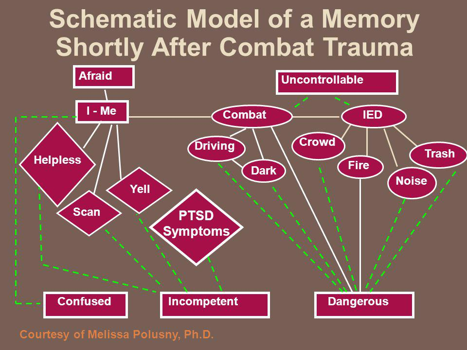 Schematic Model of a Memory Shortly After Combat Trauma