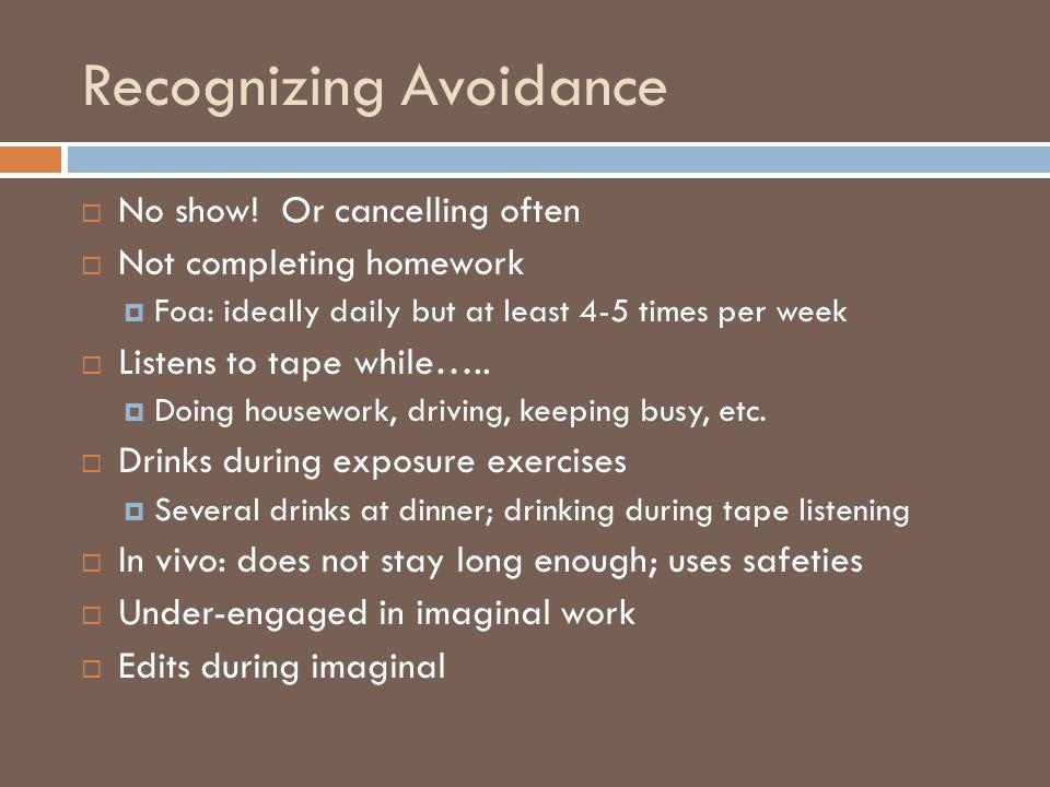 Recognizing Avoidance