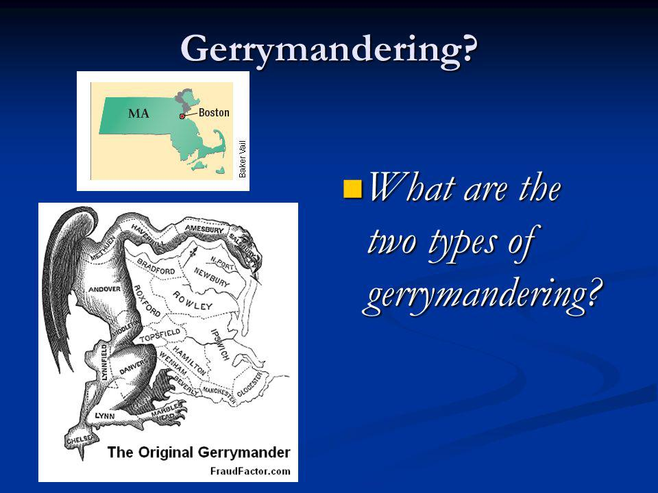 What are the two types of gerrymandering