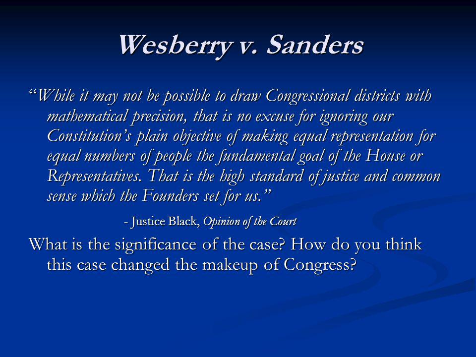 Wesberry v. Sanders