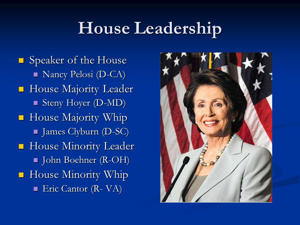 House Leadership Speaker of the House House Majority Leader