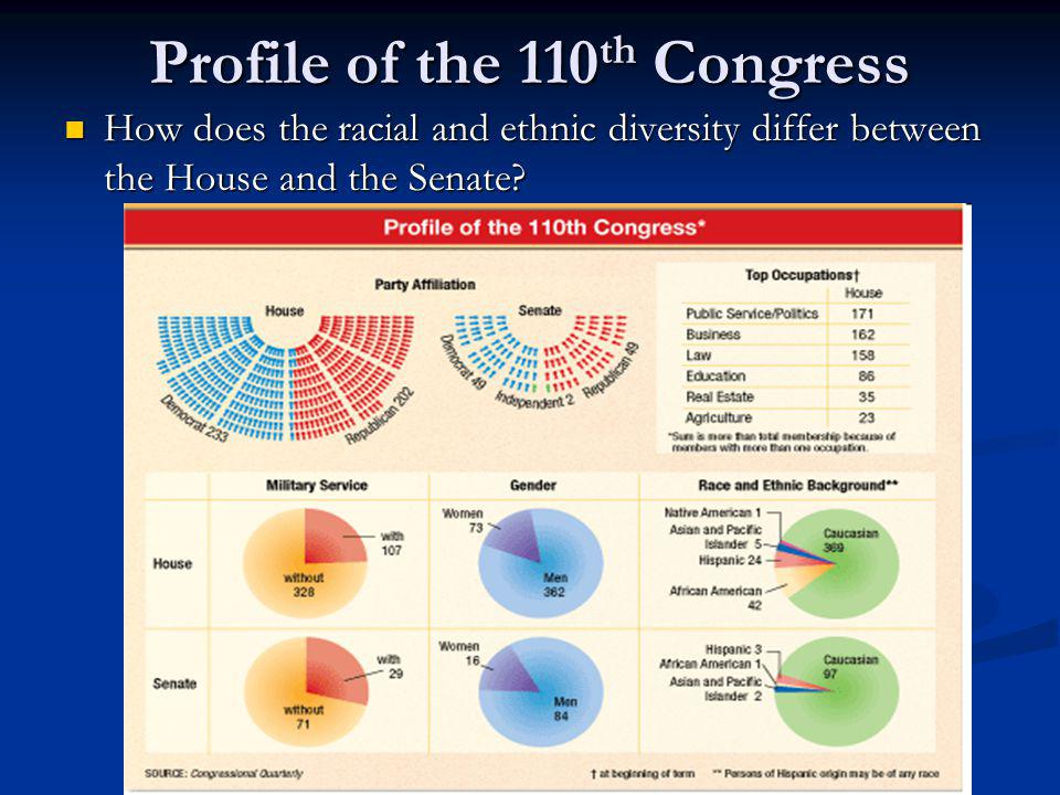 Profile of the 110th Congress