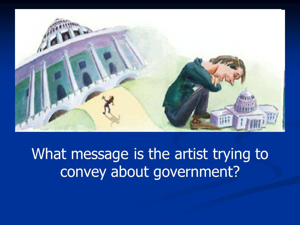 What message is the artist trying to convey about government