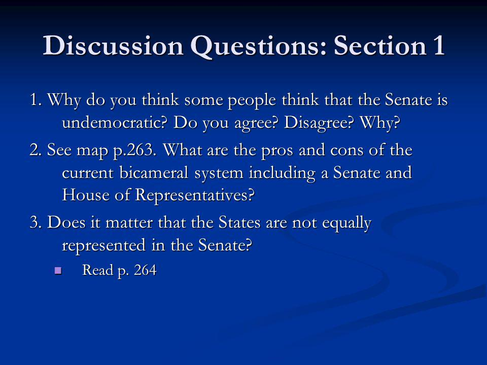 Discussion Questions: Section 1