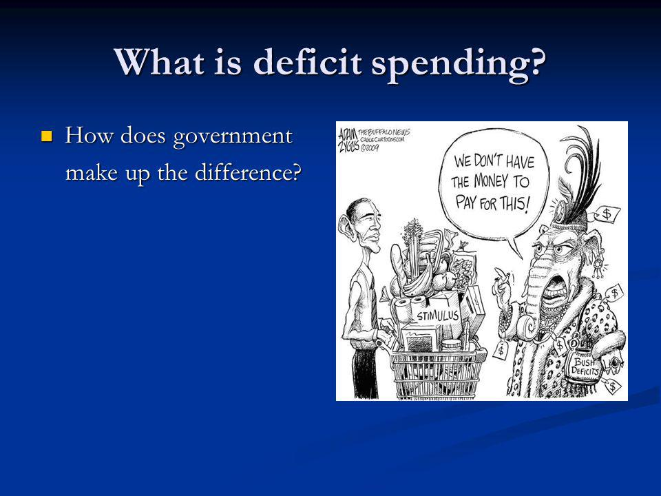 What is deficit spending