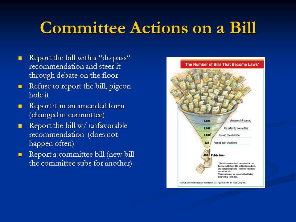 Committee Actions on a Bill