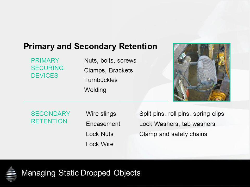 Managing Static Dropped Objects