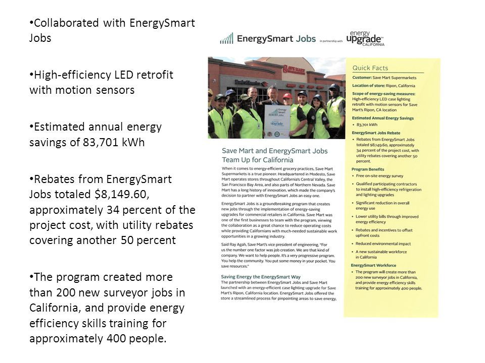 Collaborated with EnergySmart Jobs
