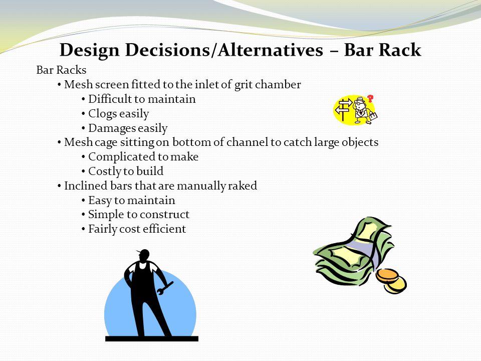 Design Decisions/Alternatives – Bar Rack
