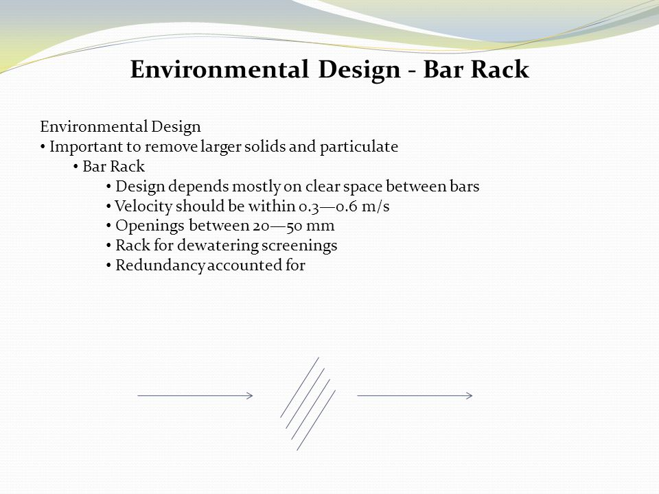 Environmental Design - Bar Rack
