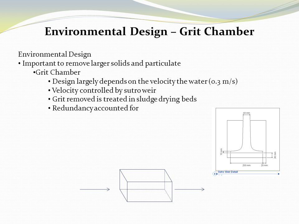 Environmental Design – Grit Chamber