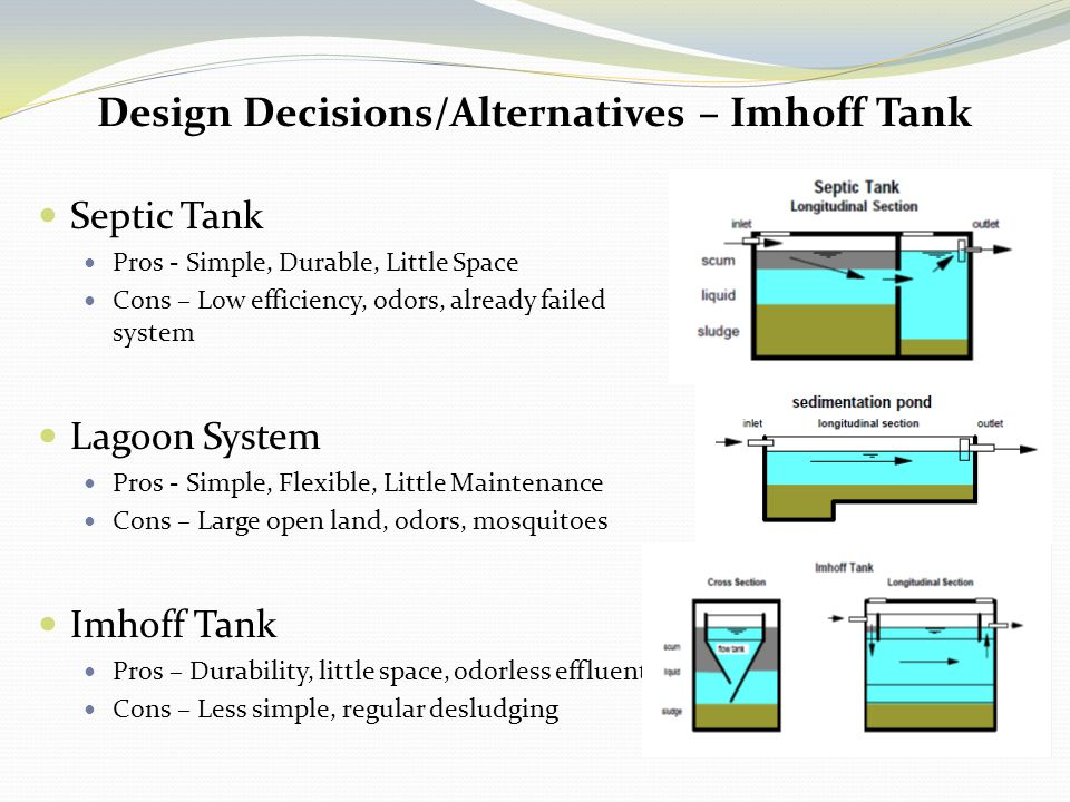 Design Decisions/Alternatives – Imhoff Tank