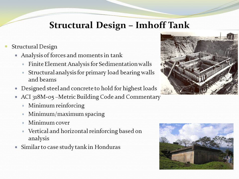Structural Design – Imhoff Tank