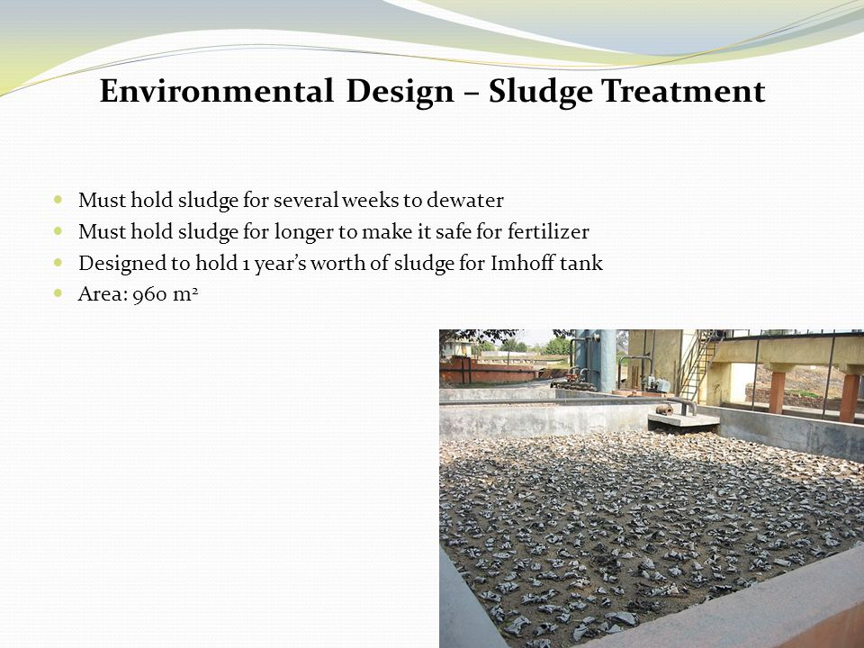 Environmental Design – Sludge Treatment