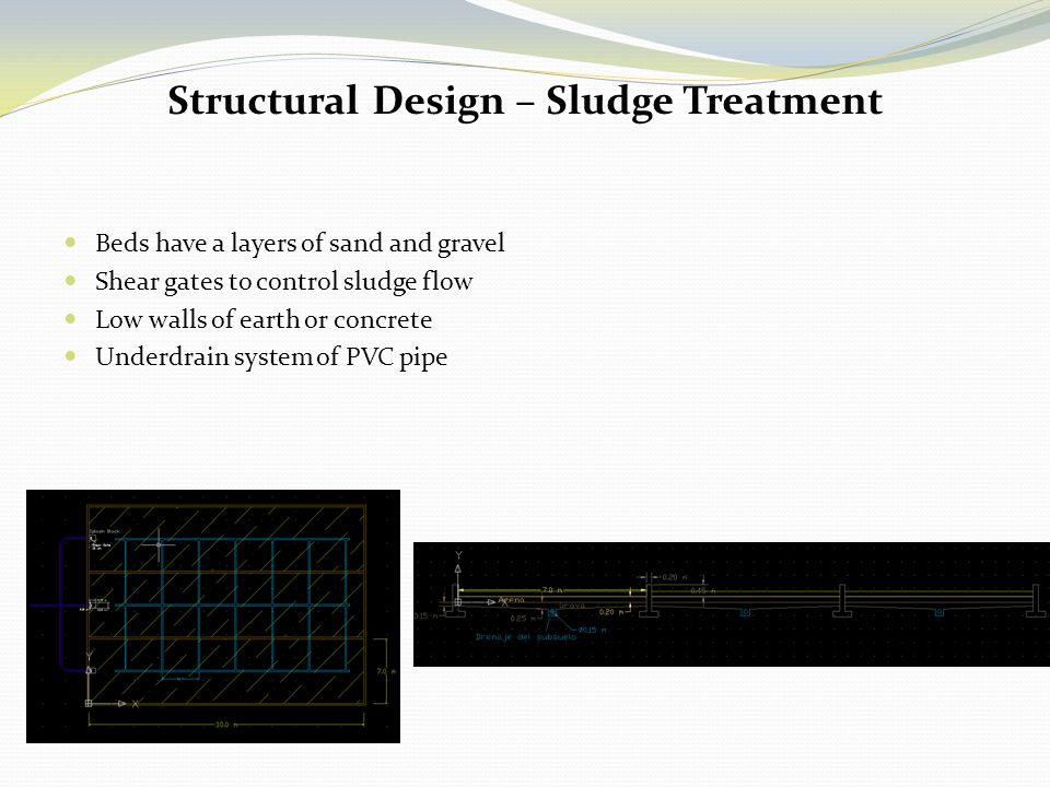 Structural Design – Sludge Treatment