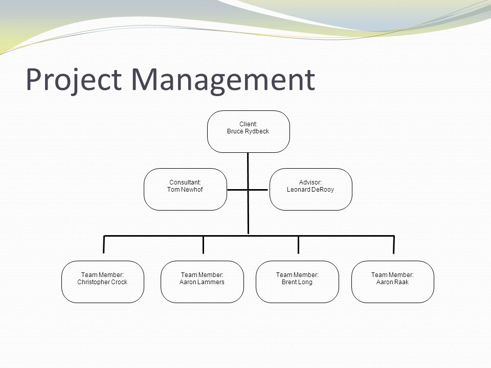 Project Management Thank you Brent