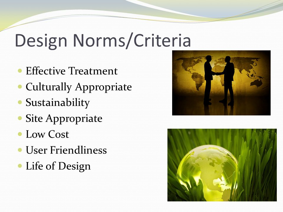 Design Norms/Criteria
