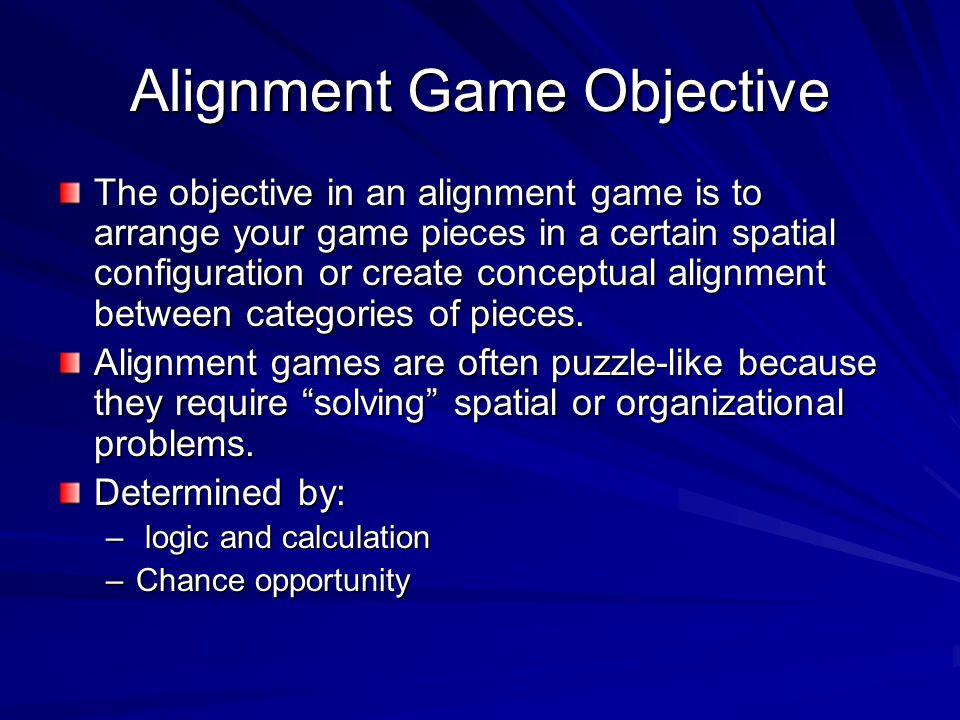 Alignment Game Objective