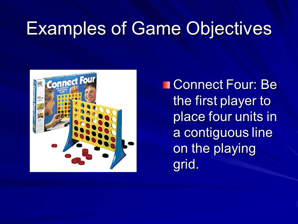 Examples of Game Objectives