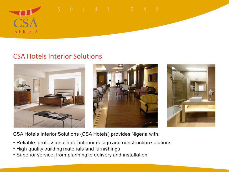 CSA Hotels Interior Solutions