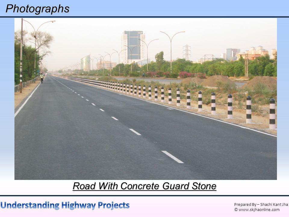 Road With Concrete Guard Stone