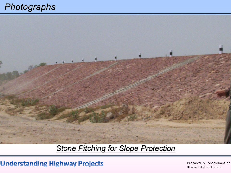 Stone Pitching for Slope Protection