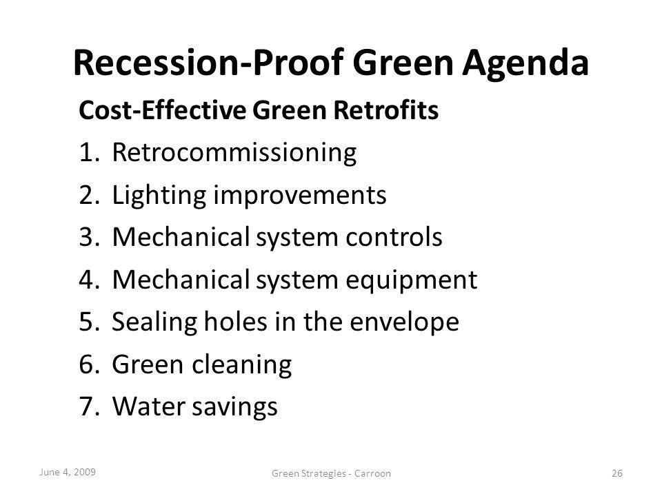 Recession-Proof Green Agenda