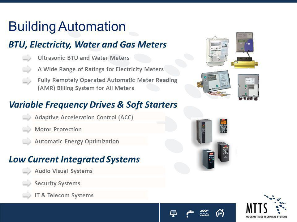 Building Automation BTU, Electricity, Water and Gas Meters