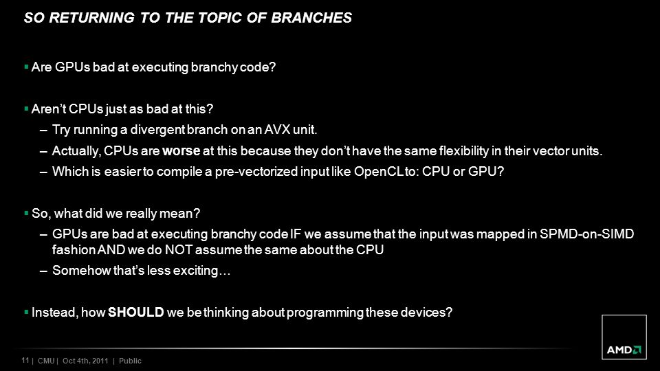 So returning to the topic of branches