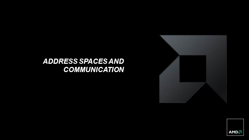address spaces and communication