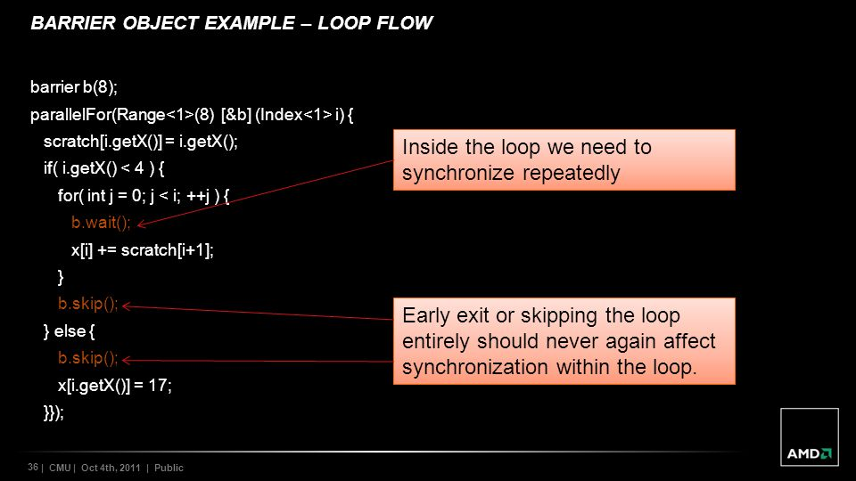 BARRIER OBJECT EXAMPLE – LOOP FLOW