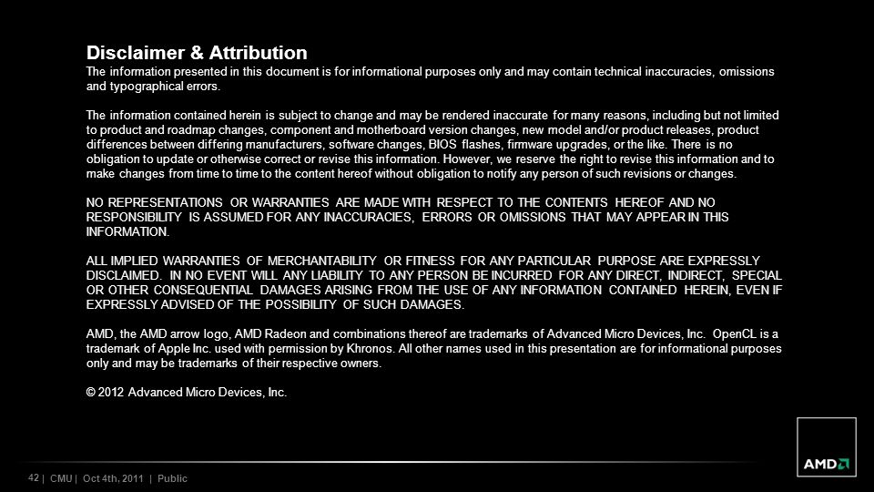 Disclaimer & Attribution