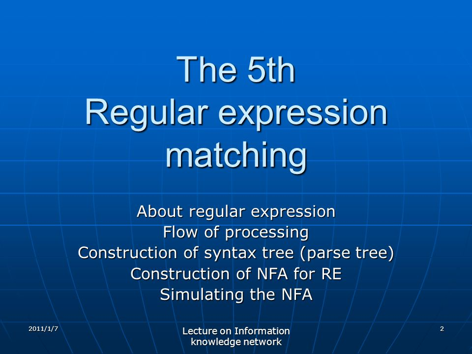 The 5th Regular expression matching
